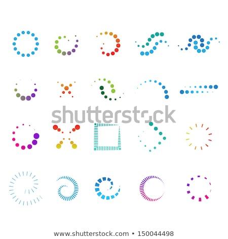 Abstrato azul círculo colorido pontilhado redemoinho Foto stock © bharat