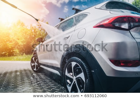 Wassen auto man zilver jet wassen Stockfoto © TheFull360