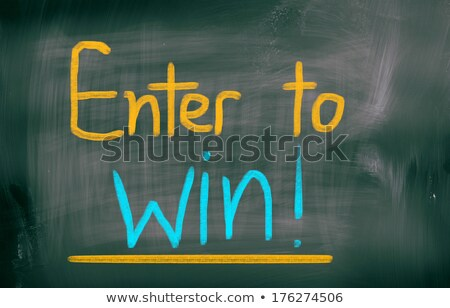 Enter to win Chalk Illustration Stock photo © kbuntu