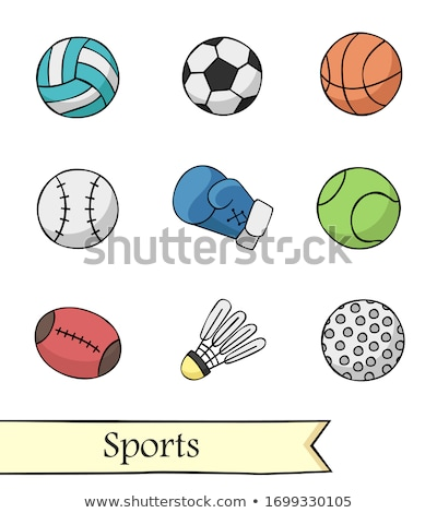 sports balls soccer, football, basket and baseball illustration  Stock photo © alexmillos