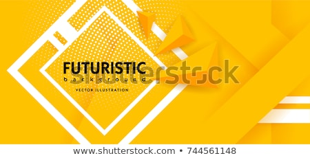 Modern narancs citromsárga absztrakt háttér réteges körök Stock fotó © fenton