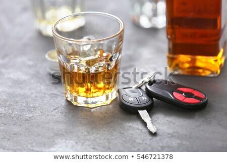alcohol and car keys Stock photo © REDPIXEL