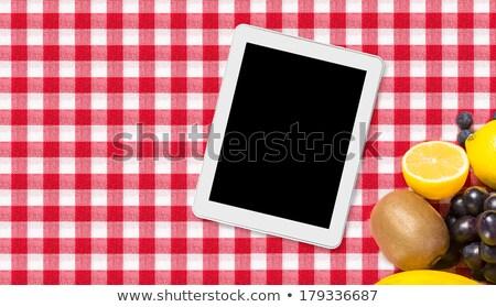 охватывать · изолированный · белый · работу · ноутбука - Сток-фото © redpixel