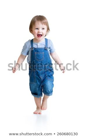 Játékos kisgyerek izolált fehér fiatal gyermek Stock fotó © gewoldi