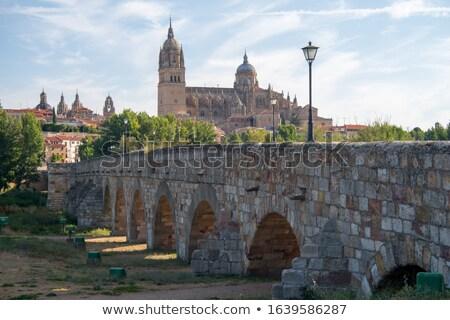 Espagne cathédrale Rio automne bateaux rive Photo stock © Tagore75