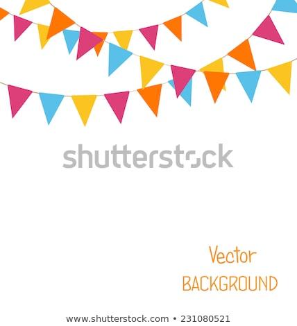 colorido · pequeno · decorativo · bandeiras · céu · festa - foto stock © thanarat27
