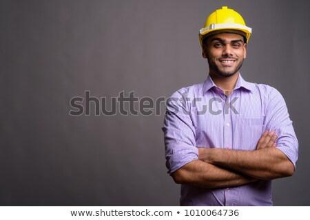 polgári · mérnök · haladás · építkezés · épület · építész - stock fotó © szefei