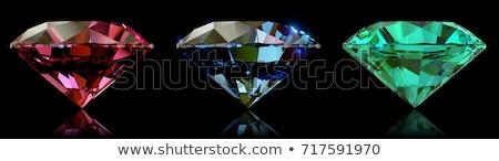 bleu · diamant · mode · verre · pierre · noir - photo stock © nejron