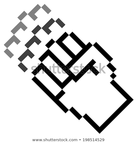 ピクセル グラフィック 手 こぶし 運動 背景 ストックフォト © opicobello