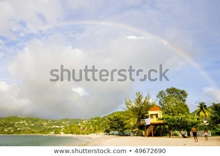 Szivárvány Grenada tenger sziget trópusi tengerpartok Stock fotó © phbcz