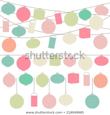 Colorato carta lanterne festival stock foto Foto d'archivio © nalinratphi