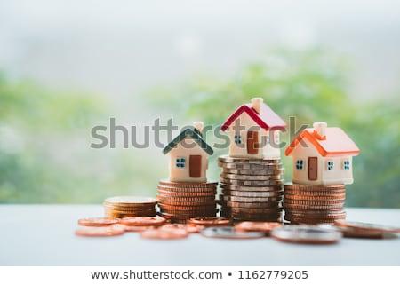 3D gegenereerde foto gebouw home Stockfoto © flipfine