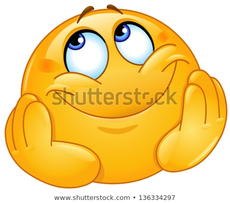 álomszerű emotikon mosoly szeretet jókedv vicces Stock fotó © Norberthos