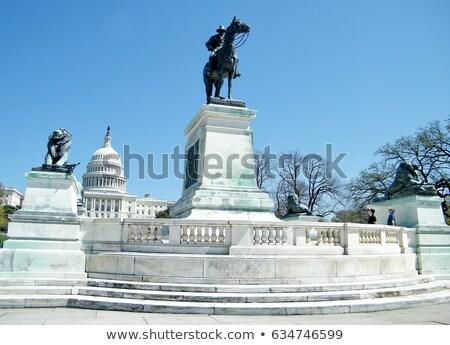 horizonte · Washington · DC · detallado · silueta · ciudad · paisaje - foto stock © blamb