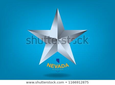 nevada small flag on a map background stock photo © tashatuvango