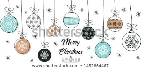 Doodle christmas communie ingesteld icon markeerstift Stockfoto © kopecky76