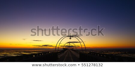 Southport Pier Silhouettes stock photo © patricianiland