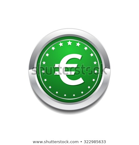 Euro Currency Sign Circular Vector GreenWeb Icon Button Stock photo © rizwanali3d