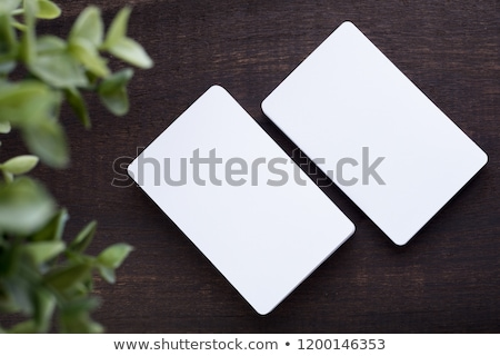 Blank Vertical Business Cards With Rounded Corners Stock photo © stevanovicigor