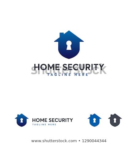 colorful house security logo stock photo © anna_leni