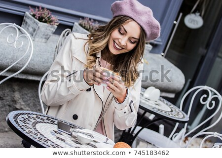 Young woman in French style stock photo © maros_b