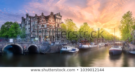 City view of Amsterdam, the Netherlands at sunrise  Stock photo © AndreyKr