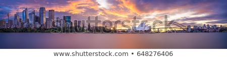 Stockfoto: Sydney · panorama · haven · brug · skyline · Australië