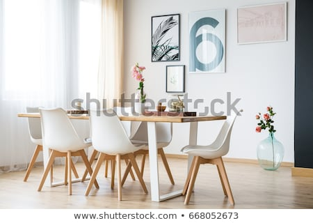 Dining table with rose decoration Stock photo © pixpack