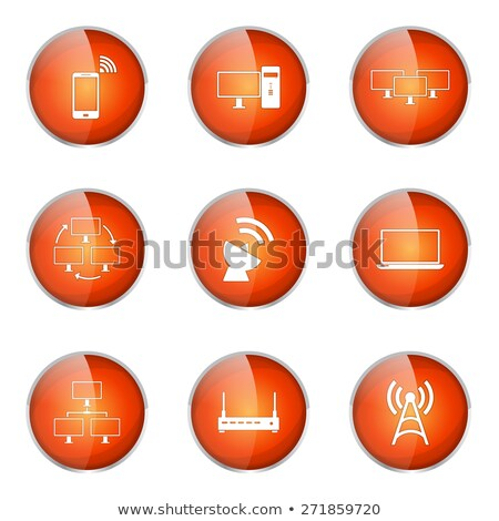 telecom communication orange vector button icon design set 2 stock photo © rizwanali3d