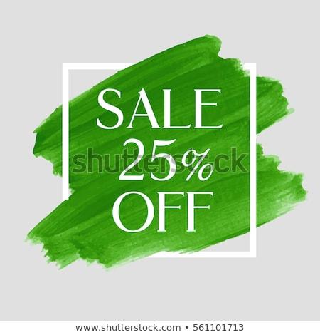 Seasonal Offer Green Vector Icon Design Stock photo © rizwanali3d