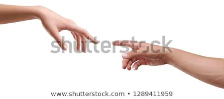Eller oluşturma adam vücut boyama Stok fotoğraf © shawlinmohd