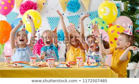 Children's party colorful balloons Stock photo © netkov1