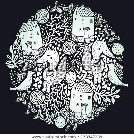 Hand drawn animal planet illustration Stock photo © netkov1