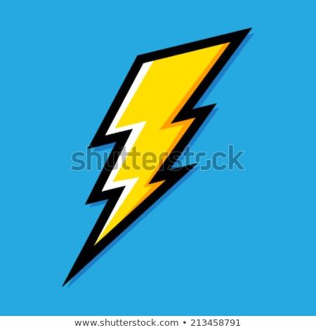 lighting bolt vector yellow blue logo Stock photo © blaskorizov