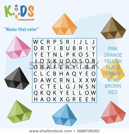 Easy - White Word on Blue Puzzles. Stock photo © tashatuvango