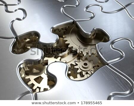 POWER - Jigsaw Puzzle with Missing Pieces. Stock photo © tashatuvango