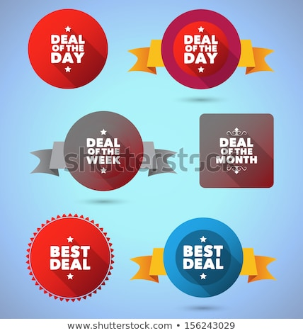 best deal blue vector icon design stock photo © rizwanali3d