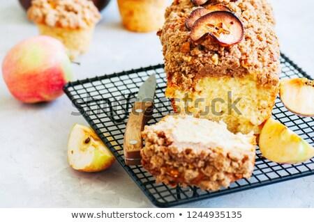 リンゴ ケーキ 選択フォーカス スライス 1 ストックフォト © rojoimages