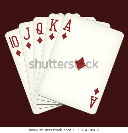 royal flush diamonds stock photo © bigalbaloo