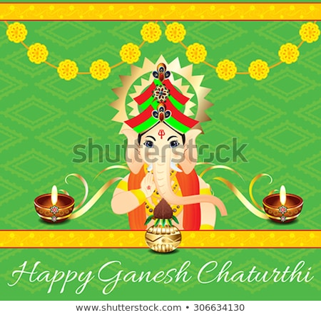 abstract artistic colorful ganesh chaturthi background Stock photo © pathakdesigner