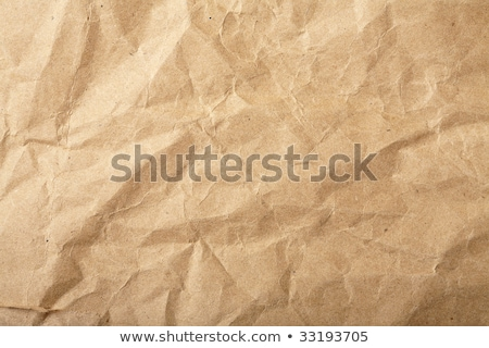 Rumpled brown cardboard paper Stock photo © karandaev