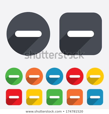 Minus Sign Yellow Vector Icon Button Stock photo © rizwanali3d