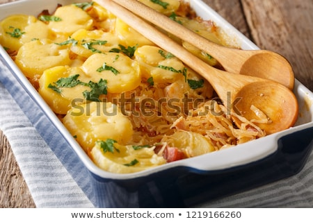 Sosis lâhana turşusu patates kan sosis Stok fotoğraf © Digifoodstock