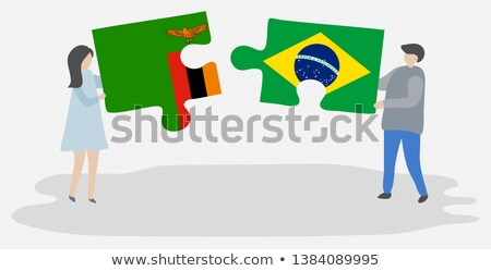 Brazil and Zambia Flags in puzzle Stock photo © Istanbul2009