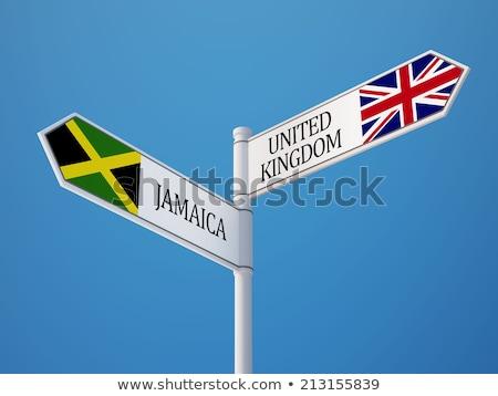 Verenigd Koninkrijk Jamaica vlaggen puzzel geïsoleerd witte Stockfoto © Istanbul2009