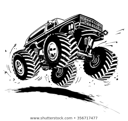 Monster Truck Jumping Stock photo © ClipArtMascots