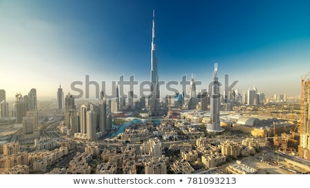 Downtown Dubai. Skyscrapers and road Stock photo © H2O