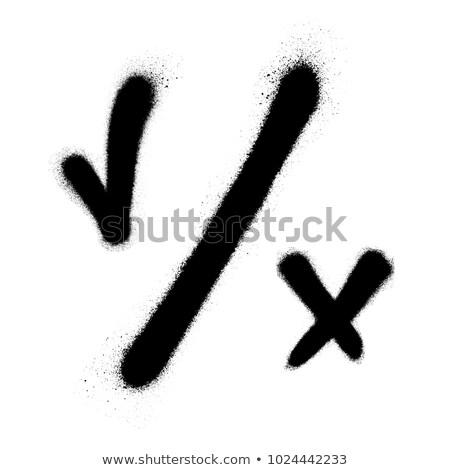 graffiti cross spray design element in white on black Stock photo © Melvin07