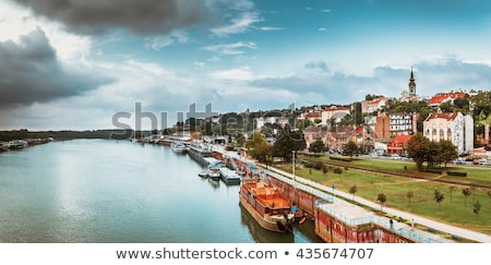 Panorama of Belgrade with Sava river. Color tone tuned Stock photo © Kirill_M