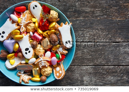 colorful jelly candies in bowl on wooden table Stock photo © nessokv